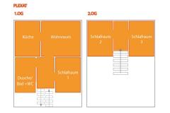 Hier finden Sie einen Grundriss der Ferienwohnung der Ihnen einen Überblick der Aufteilung gibt.
